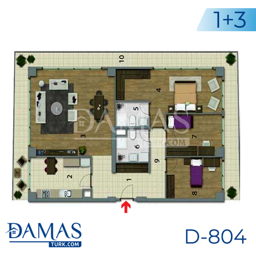 Damas Project D-804 in Istanbul - Floor plan picture 04