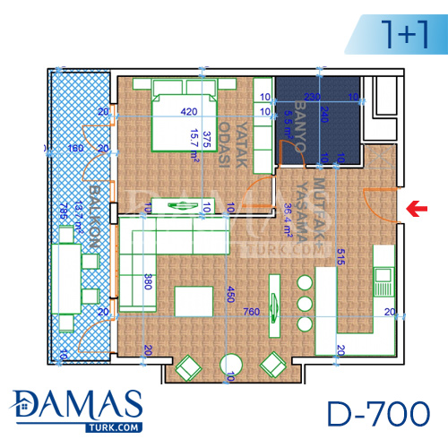 Damas Project D-700 in Ankara - Floor plan picture 04