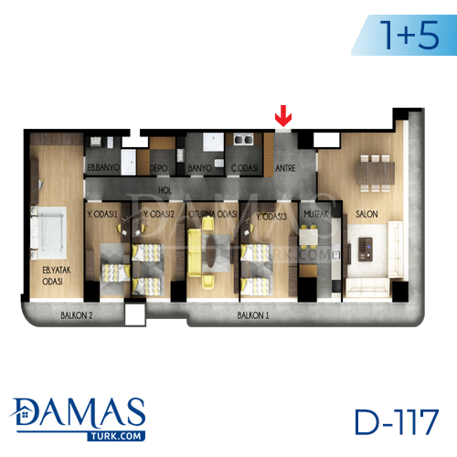 Damas Project D-117 in Istanbul - Floor plan picture 04