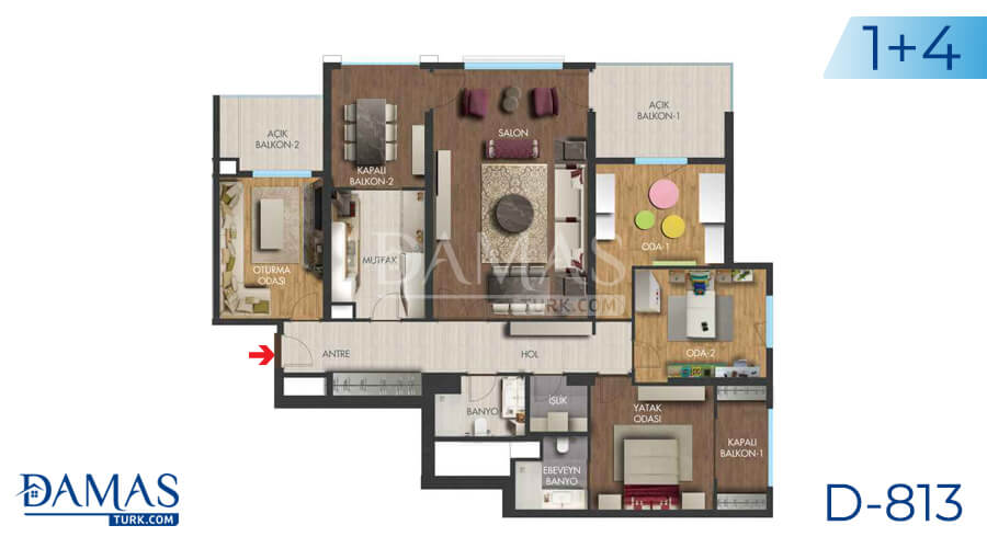 Damas Project D-813 in Istanbul - Floor plan picture 04