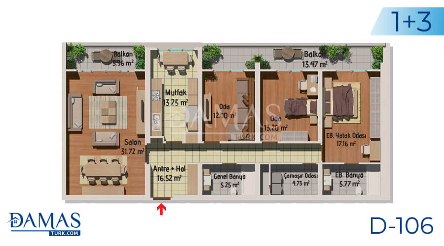 Damas Project D-106 in Istanbul - Floor plan picture 04