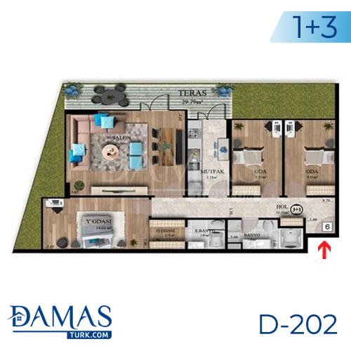 Damas Project D-202 in Istanbul - Floor plan picture  04