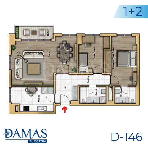 Damas Project D-146 in Istanbul - Floor plan picture 04