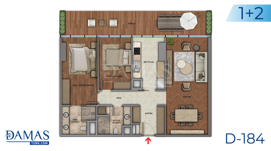 Damas Project D-184 in Istanbul - Floor plan picture  04
