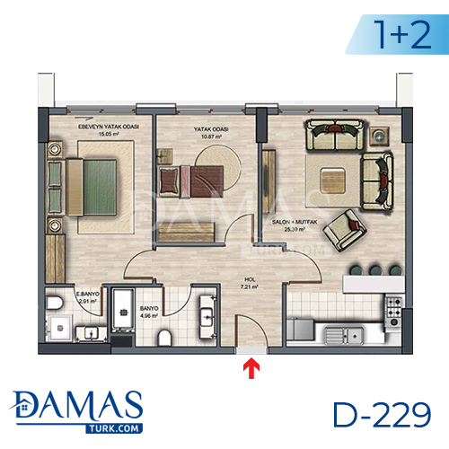 Damas Project D-229 in Istanbul - Floor plan picture  04