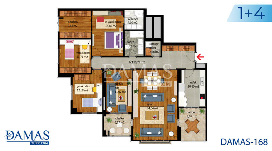 Damas Project D-168 in Istanbul - Floor plan picture  04
