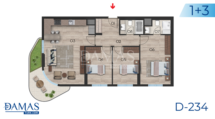 Damas Project D-234 in Istanbul - Floor plan picture  04