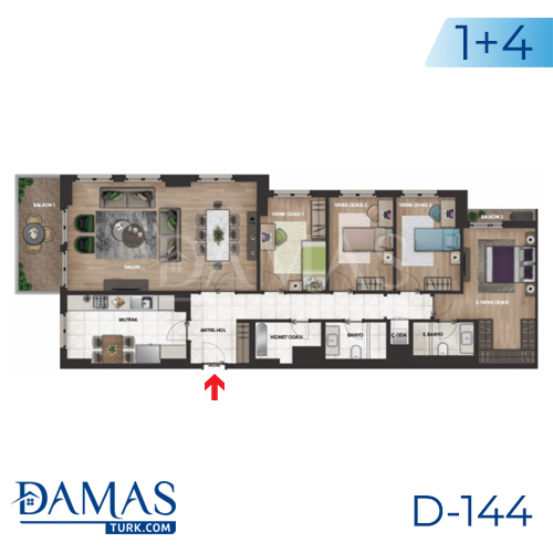 Damas Project D-144 in Istanbul - Floor plan picture 04