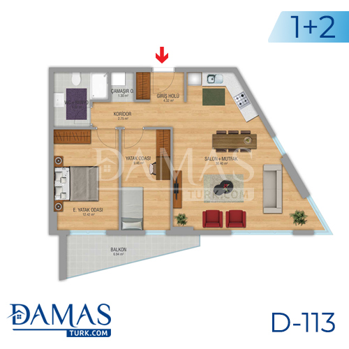 Damas Project D-112 in Istanbul - Floor plan picture 04
