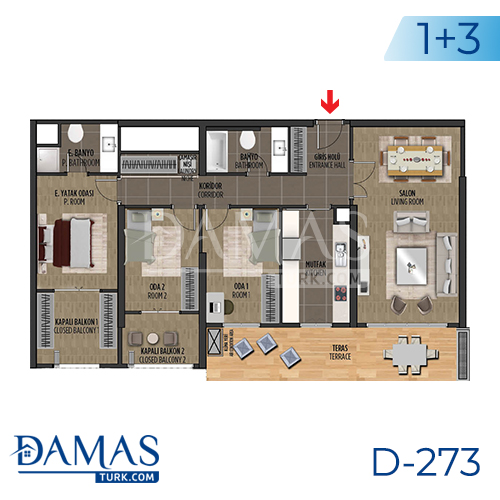 Damas Project D-273 in Istanbul - Floor plan picture 04