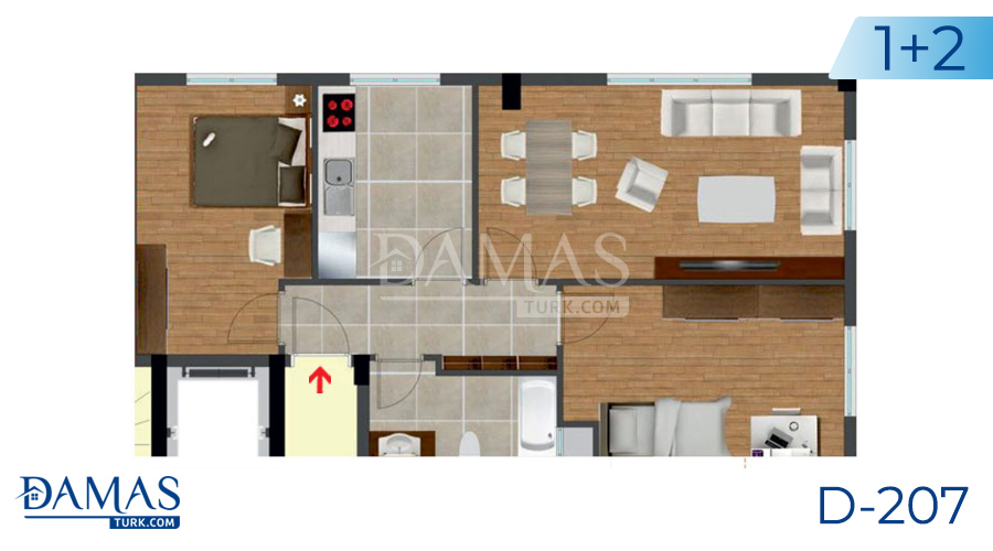 Damas Project D-207 in Istanbul - Floor plan picture  04