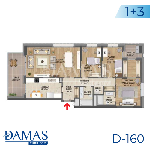 Damas Project D-160 in Istanbul - Floor plan picture 04