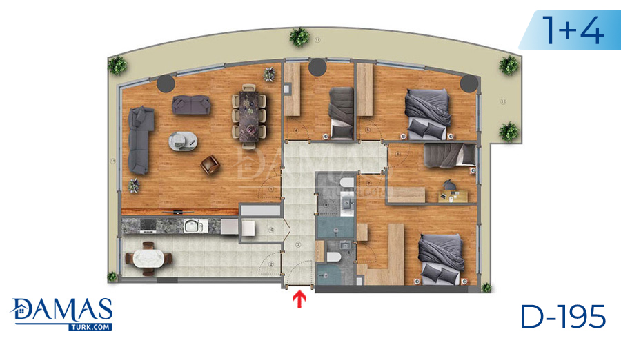 Damas Project D-195 in Istanbul - Floor plan picture  04