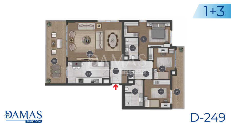 Damas Project D-249 in Istanbul - Floor plan picture 04
