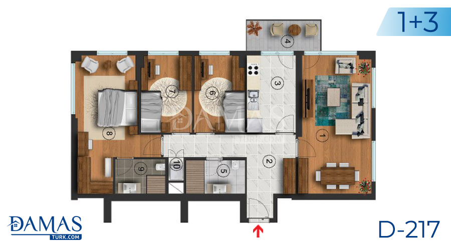 Damas Project D-217 in Istanbul - Floor plan picture  04