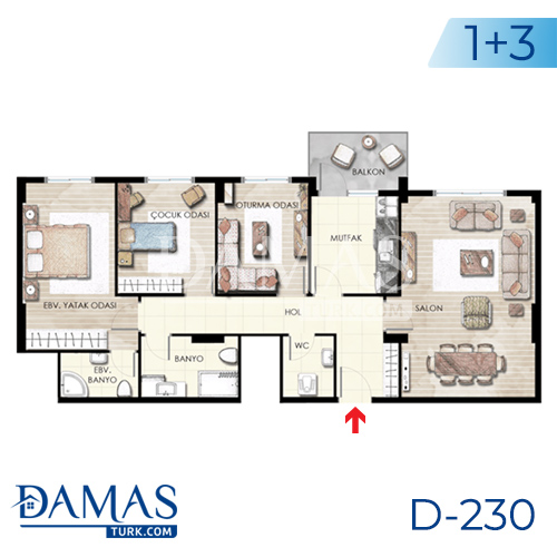 Damas Project D-230 in Istanbul - Floor plan picture  04