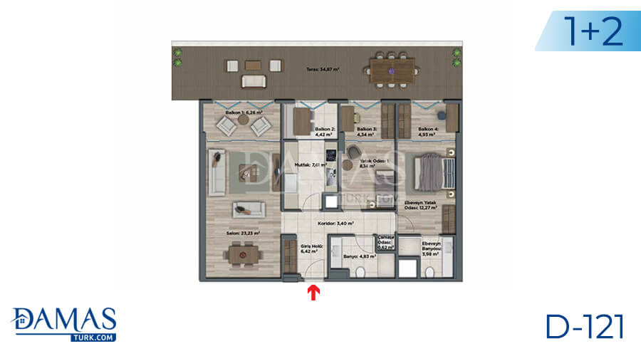 Damas Project D-121 in Istanbul - Floor plan picture 04