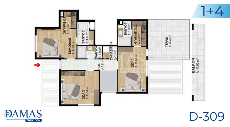 Damas Project D-309 in Bursa - Floor plan picture  04