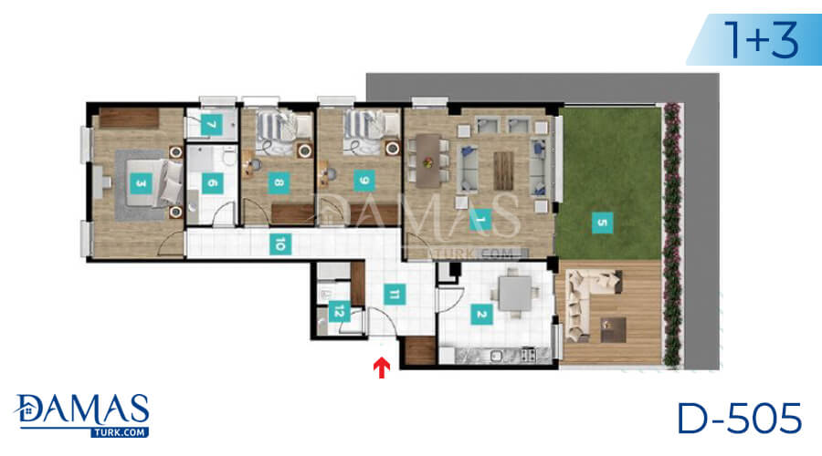 Damas Project D-505 in kocaeli - Floor plan picture  04