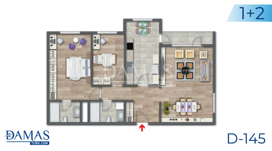 Damas Project D-145 in Istanbul - Floor plan picture 04