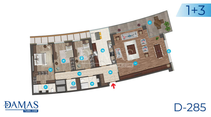 Damas Project D-285 in Istanbul - Floor plan picture 04