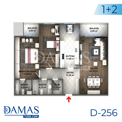 Damas Project D-256 in Istanbul - Floor plan picture 04