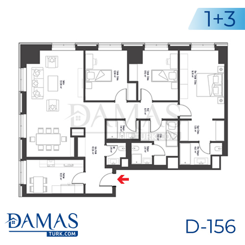 Damas Project D-156 in Istanbul - Floor plan picture 04