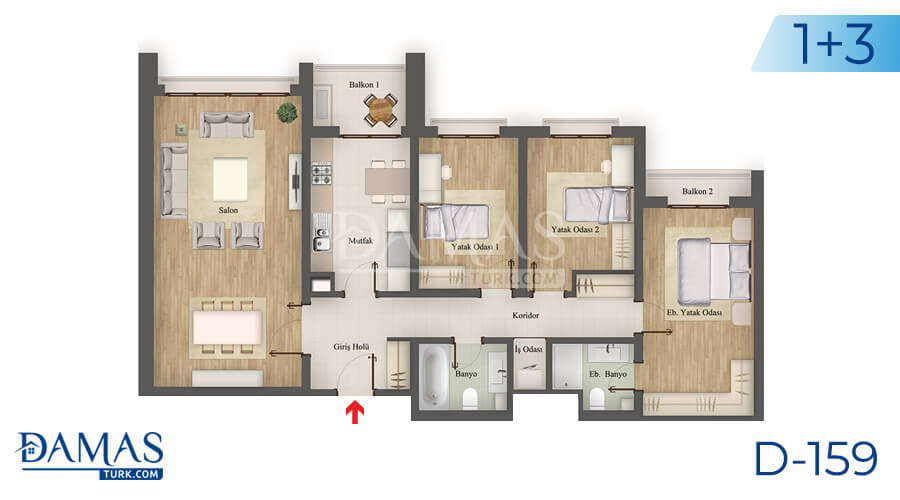 Damas Project D-159 in Istanbul - Floor plan picture 04