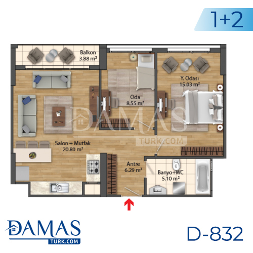 Damas Project D-832 in Istanbul - Floor Plan picture 04