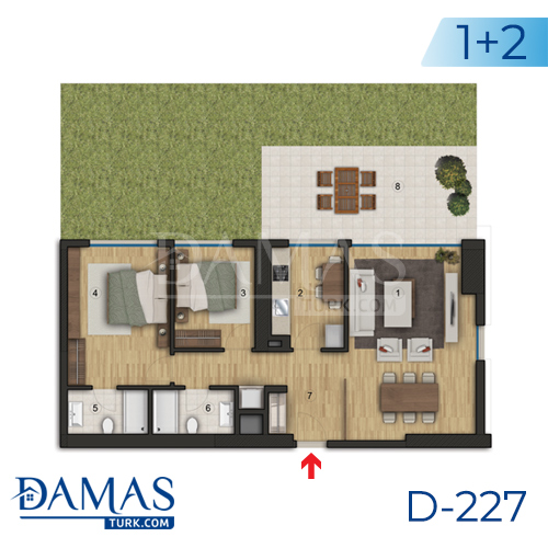 Damas Project D-227 in Istanbul - Floor plan picture  04