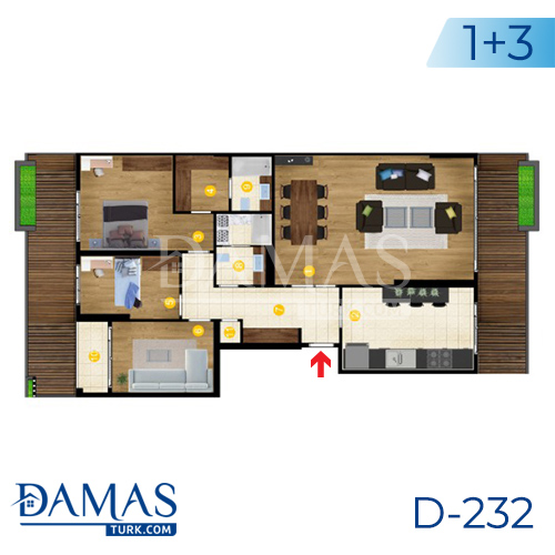 Damas Project D-232 in Istanbul - Floor Plan picture  04