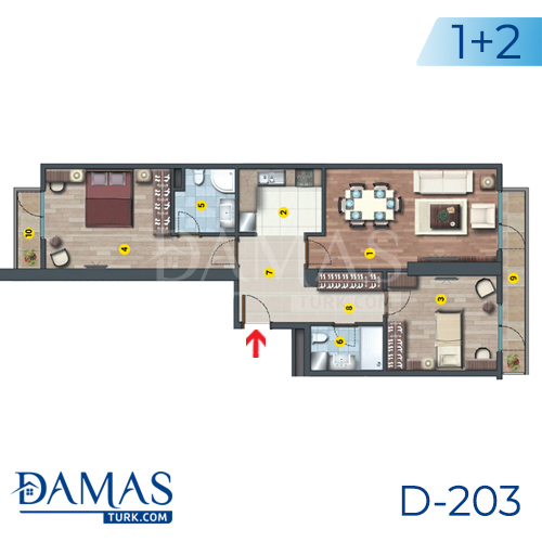 Damas Project D-203 in Istanbul - Floor plan picture  04