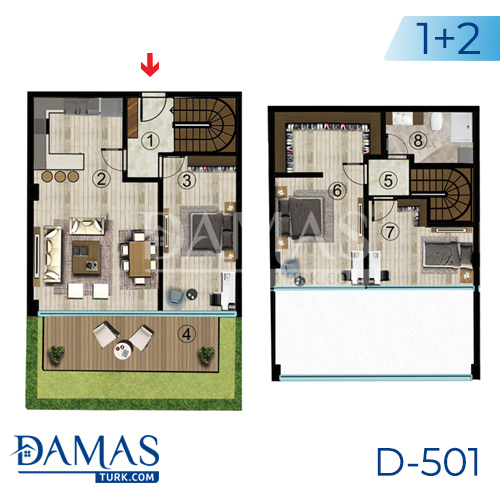 Damas Project D-501 in Kocaeli - Floor plan picture  04
