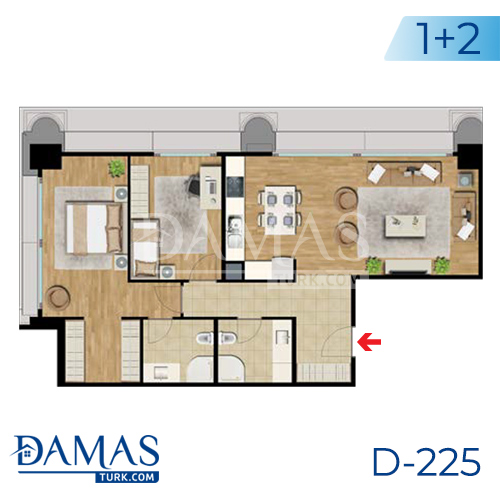 Damas Project D-225 in Istanbul - Floor plan picture  04
