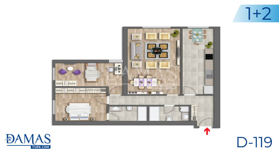 Damas Project D-119 in Istanbul - Floor plan picture 04