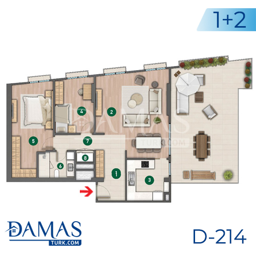 Damas Project D-214 in Istanbul - Floor plan picture  04