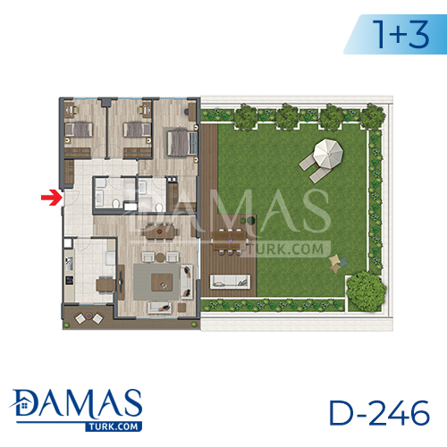 Damas Project D-246 in Istanbul - Floor plan picture 04