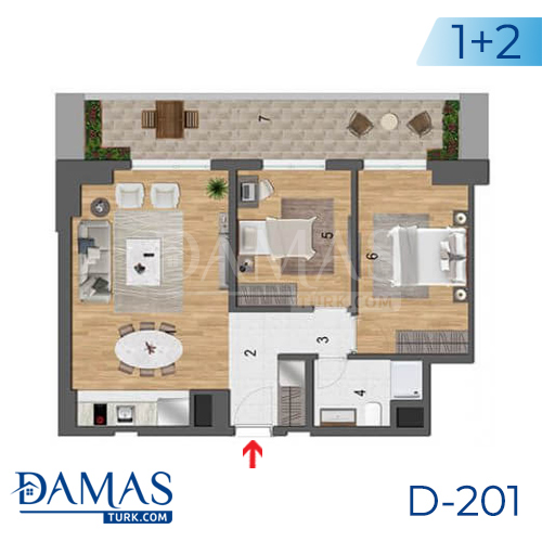 Damas Project D-201 in Istanbul - Floor plan picture  04
