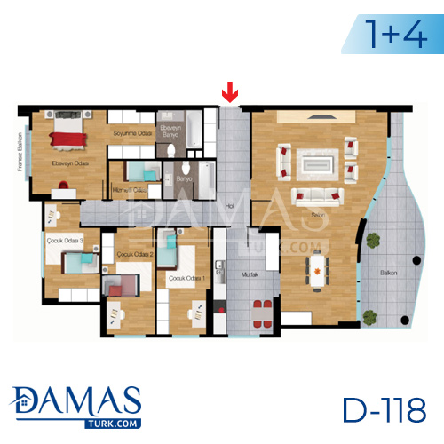 Damas Project D-118 in Istanbul - Floor plan picture 04