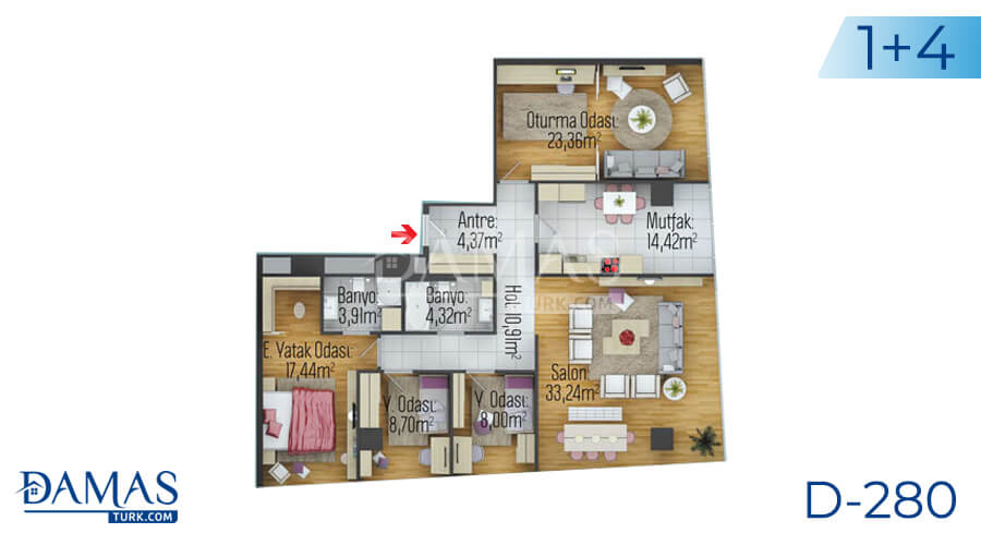Damas Project D-280 in Istanbul - Floor plan picture 04