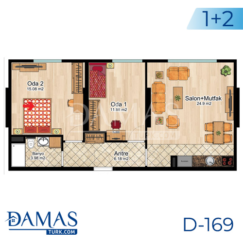 Damas Project D-169 in Istanbul -Floor plan picture  04