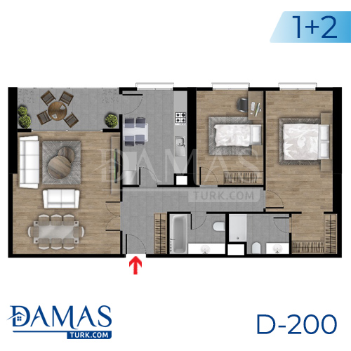 Damas Project D-200 in Istanbul - Floor plan picture  04