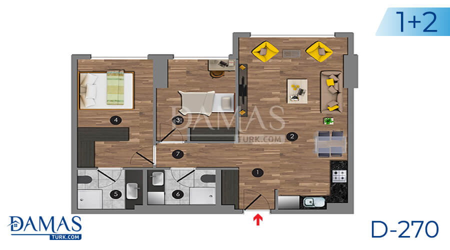 Damas Project D-270 in Istanbul - Floor plan picture 04