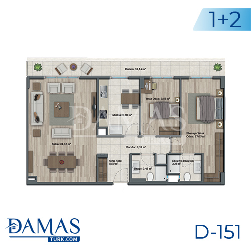 Damas Project D-151 in Istanbul - Floor plan picture 04