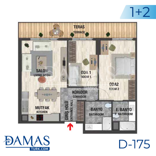 Damas Project D-175 in Istanbul - Floor plan picture  04