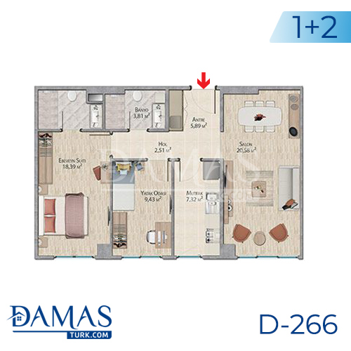 Damas Project D-266 in Istanbul - Floor plan picture 04
