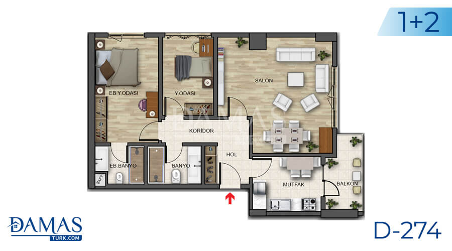 Damas Project D-274 in Istanbul - Floor plan picture 04