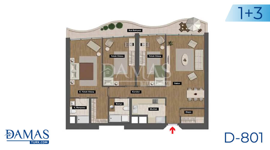 Damas Project D-801 in Istanbul - Floor plan picture 04