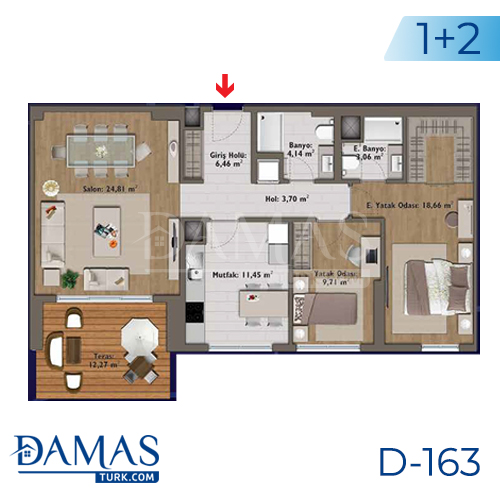 Damas Project D-163 in Istanbul - Floor plan picture 04