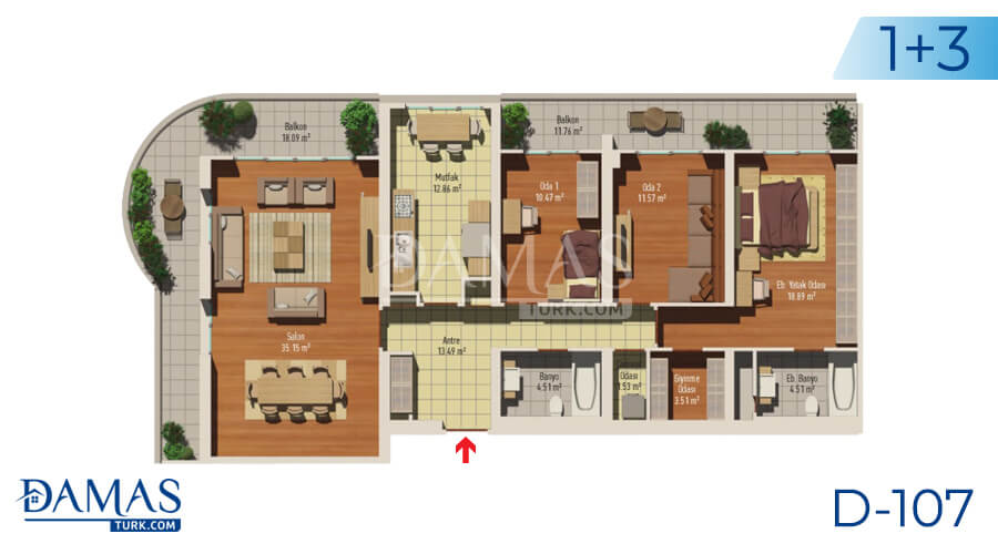 Damas Project D-107 in Istanbul - Floor plan picture 04